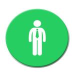 mann-med-slips-sirkel